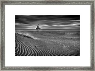 The Beach Hut Framed Print by Peter Elgar