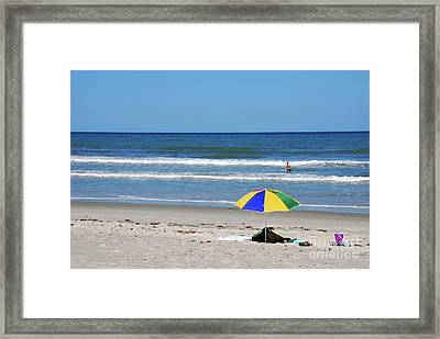 The Beach Is Mine Today Framed Print