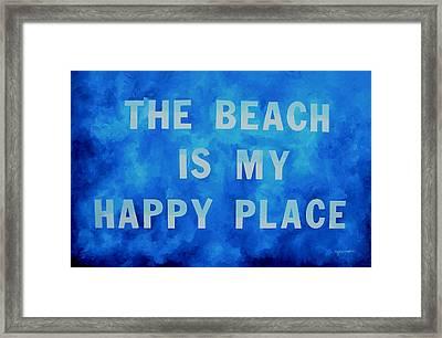 The Beach Is My Happy Place 2 Framed Print by Patti Schermerhorn