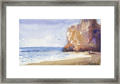 The Beach Framed Print by Kristina Vardazaryan