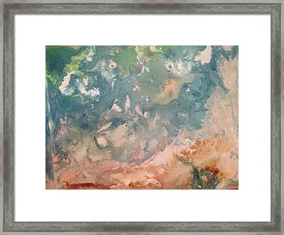 The Beach  Framed Print by Margalit Romano