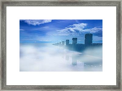 The Beach Framed Print by Martin Newman