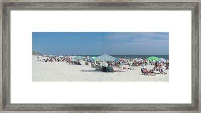 The Beach Merge Framed Print by Daniel Henning