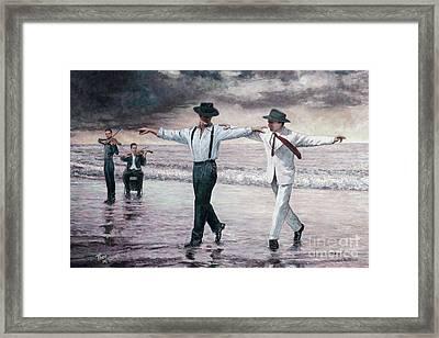 The Beach Quartet Framed Print by Theo Michael
