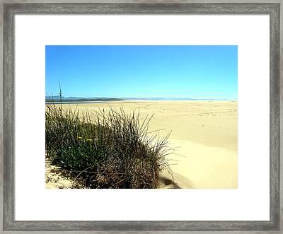 Framed Print featuring the photograph The Beach by Riana Van Staden