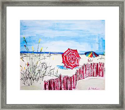 The Beach Framed Print by Shelia Gallaher Chancey