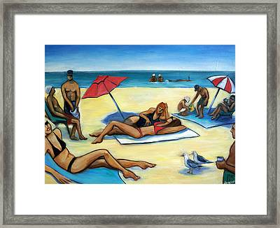 The Beach Framed Print by Valerie Vescovi