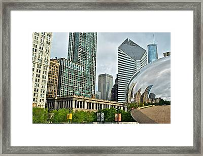The Bean Reflects Framed Print by Frozen in Time Fine Art Photography