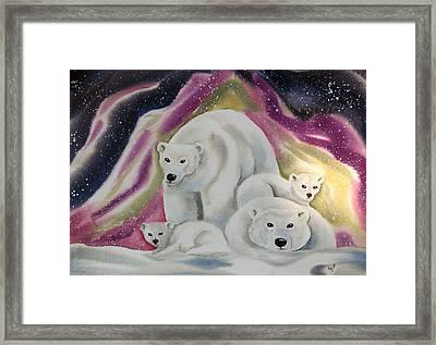The Bear Family Framed Print by Amelie Gates