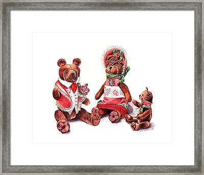 The Bear Family Framed Print