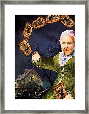 The Bearded Lady's Dream Framed Print by Max Scratchmann
