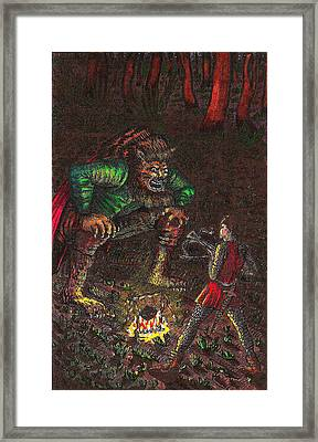 The Beast And Prince Meet Framed Print
