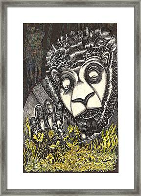 The Beast Discovers New Life Framed Print by Al Goldfarb