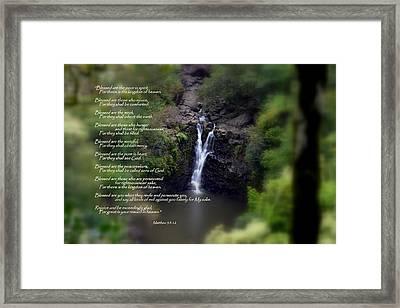 The Beatitudes Framed Print by Jeanne Geidel-Neal
