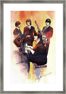 The Beatles 01 Framed Print by Yuriy  Shevchuk