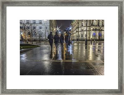 The Beatles At The Pier Head Framed Print