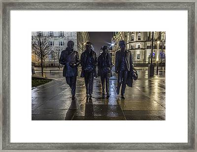 The Beatles At The Pier Framed Print