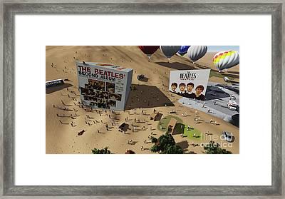 The Beatles Cube On Fans Framed Print