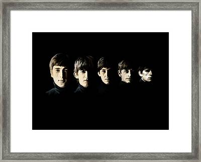 Framed Print featuring the painting The Beatles Destinies Fate by Iconic Images Art Gallery David Pucciarelli