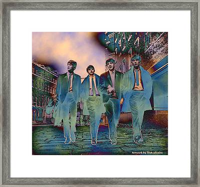 The Beatles Forever Framed Print by Trish Oliveira