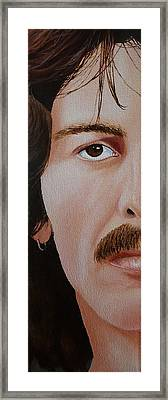 The Beatles George Harrison Framed Print by Vic Ritchey