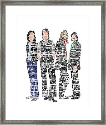 The Beatles  Framed Print by Gradea Lappin