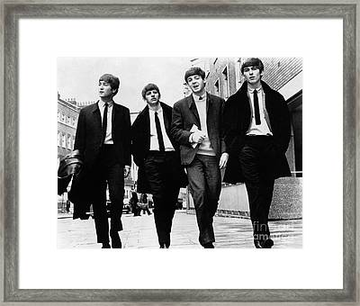 The Beatles - To License For Editorial Use Visit Granger.com Framed Print