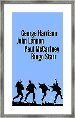 The Beatles John Lennon, Paul Mccartney, George Harrison And Ringo Starr Framed Print by Pablo Franchi