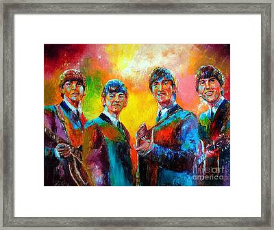 The Beatles Framed Print by Leland Castro
