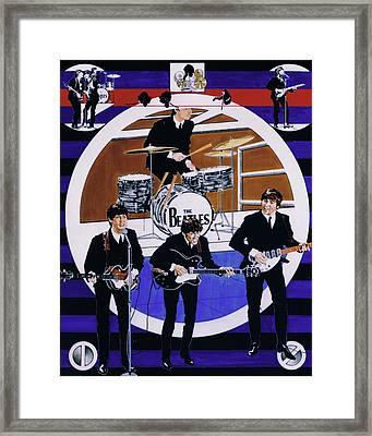 The Beatles - Live On The Ed Sullivan Show Framed Print by Sean Connolly