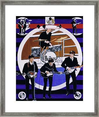 The Beatles - Live On The Ed Sullivan Show Framed Print