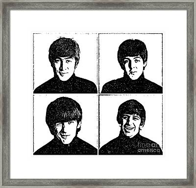 The Beatles No.13 Framed Print by Caio Caldas