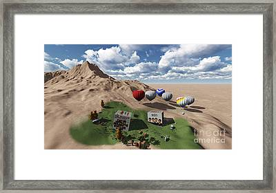 The Beatles Oasis On Desert Framed Print by Pablo Franchi