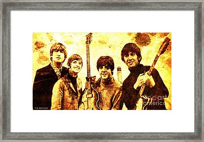 The Beatles Framed Print by Pablo Franchi