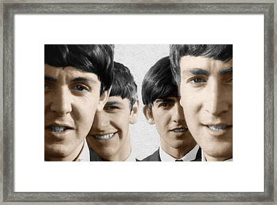 The Beatles Painting 1963 Color Framed Print