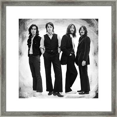The Beatles Painting Late 1960s Early 1970s Black And White Framed Print by Tony Rubino