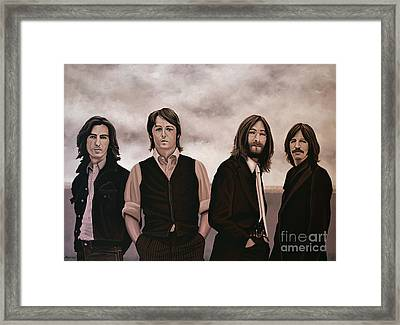 The Beatles 3 Framed Print by Paul Meijering