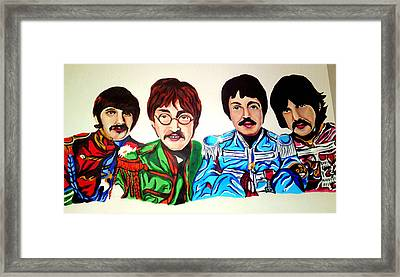 The Beatles  Framed Print by Pauline Murphy