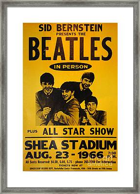 The Beatles Poster Collection 7 Framed Print by Bob Christopher