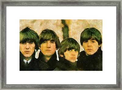 The Beatles Framed Print by Galeria Zullian  Trompiz