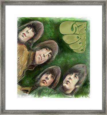 The Beatles, Rubber Soul Framed Print by Mark Tonelli