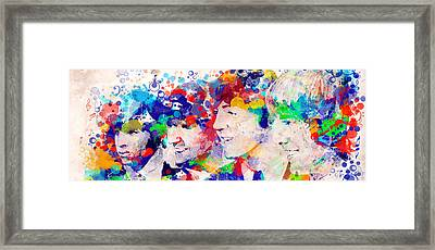 The Beatles Tb Framed Print by Bekim Art