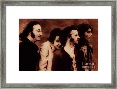 The Beatles - The Fab Four Framed Print by Al Bourassa