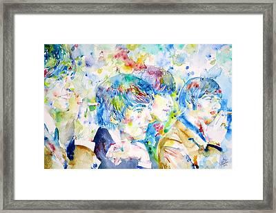 The Beatles - Watercolor Portrait.4 Framed Print