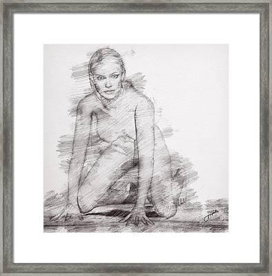 The Beautiful Anita Framed Print by Joaquin Abella
