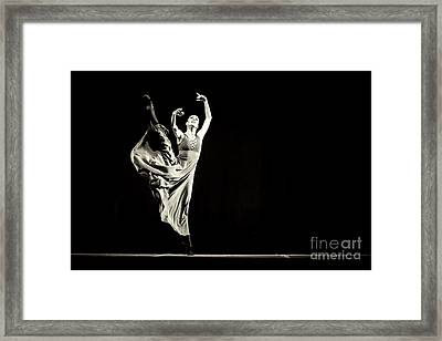 Framed Print featuring the photograph The Beautiful Ballerina Dancing In Long Dress by Dimitar Hristov
