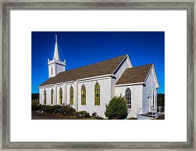 The Beautiful Bodega Church St. Teresas Of Avila  Framed Print by Garry Gay
