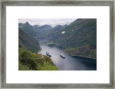 The Beautiful Geirangerfjord Framed Print