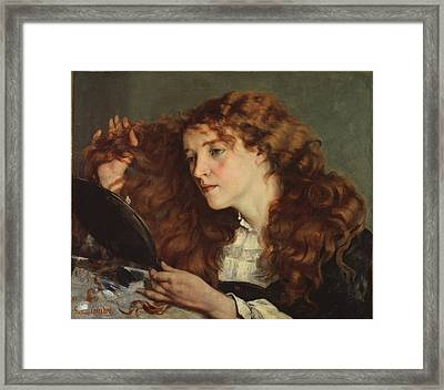 The Beautiful Irish Girl Framed Print by Gustave