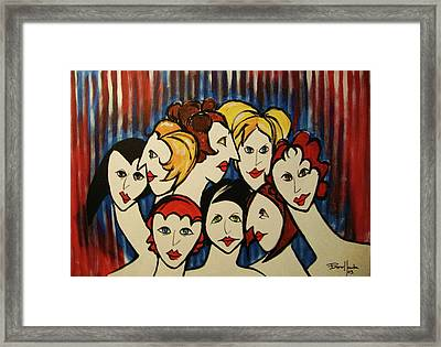 The Beautiful Ladies Framed Print